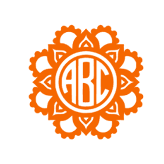 Aztec Circle Monogram Decal