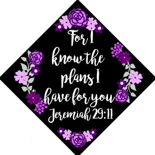 Jeremiah 29:11 Grad Cap