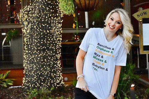 Mardi Gras Parade List Tshirt