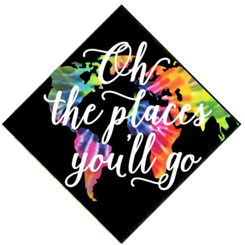 Oh The Places you'll go Grad Cap