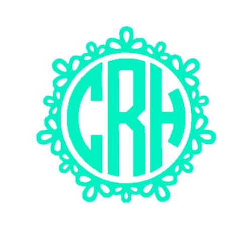Circle Monogram Decal