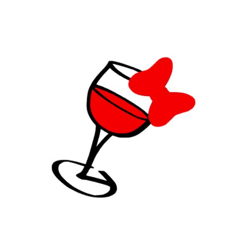 Minnie Wine Glass Magic Band Decal