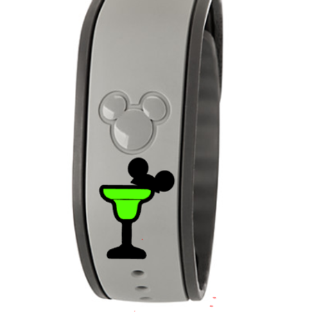 Mickey Margarita Glass Magic Band Decal