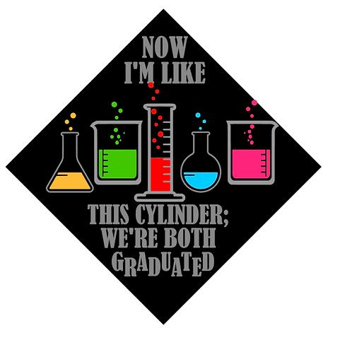 Graduated Cylinder Grad Cap
