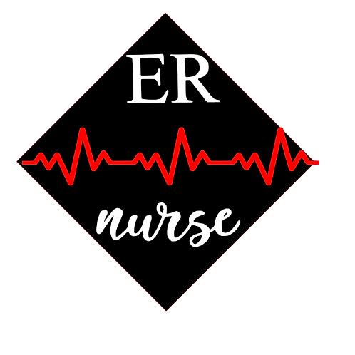 ER Nurse Grad Cap
