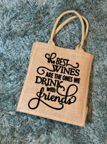 The Best Wines... wine tote bag