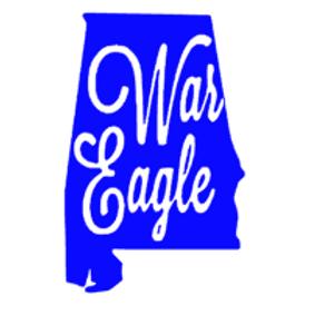 War Eagle Alabama Decal