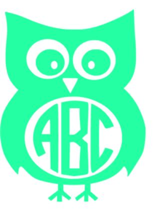 Owl Monogram Decal