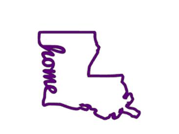 Louisiana home Decal