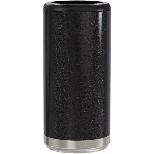 Black Glitter Skinny Cooler