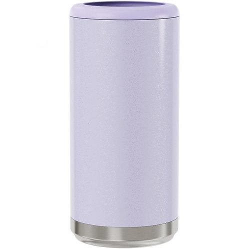 Lilac Glitter Skinny Cooler