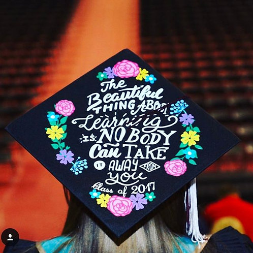 The Beautiful Thing about Learning grad cap