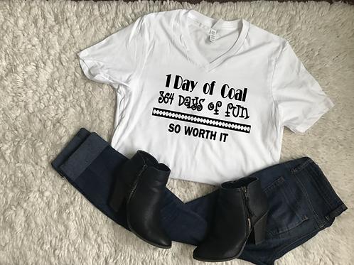 364 Days of Fun Vneck Tshirt