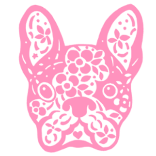 Floral French Bulldog Decal