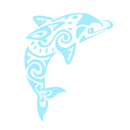 Aztec Dolphin Decal