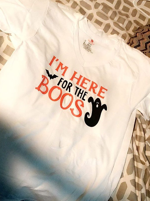 I'm Here for the Boos Vneck Tshirt