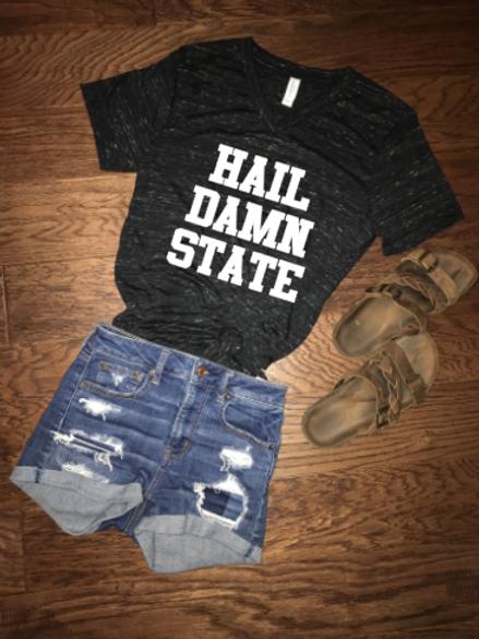 Hail Damn State Vneck