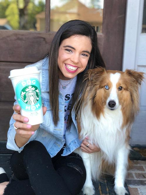 Dog Mom Reusable Travel Coffee Cup