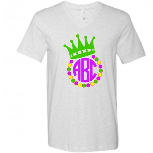 Crown monogram Mardi Gras Tshirt