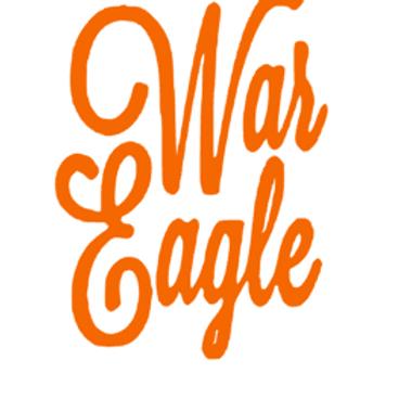 War Eagle Cursive Decal