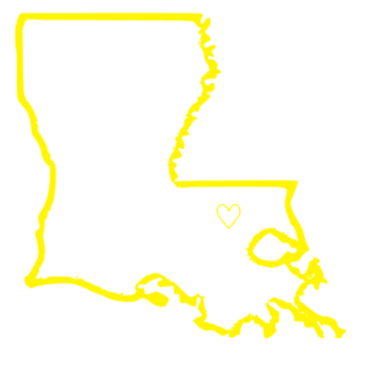 Louisiana Outline Decal