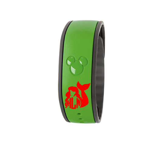 Ariel Monogram Magic Band Decal
