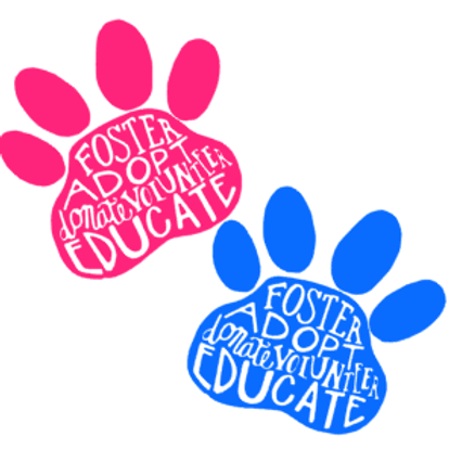 Animal Adoption Paw Print Decal