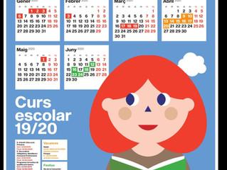 Calendario escolar curso 2019-2020