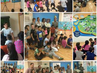Centro Medio Ambiental El Vedat.                Recogida de Diplomas y Exposición de los murales gan
