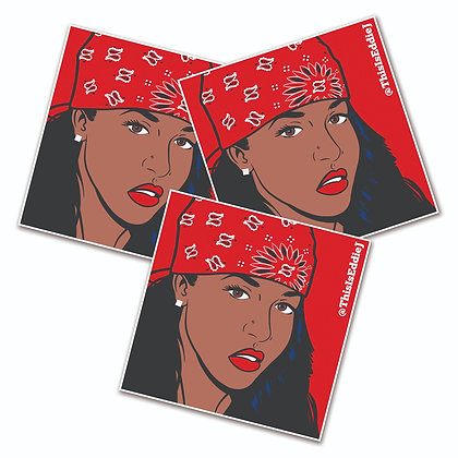 Lady in Red Sticker pack 3X3