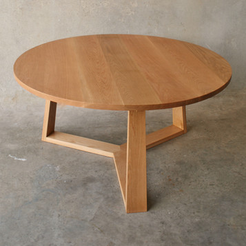 PURE dining table solid American oak in a clear finish