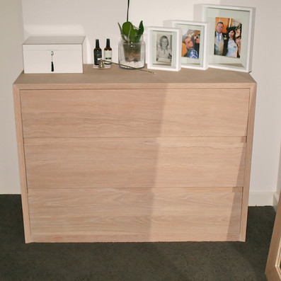 CLARKE RESIDENCE chest of drawers, solid American white oak in a lime wash finish