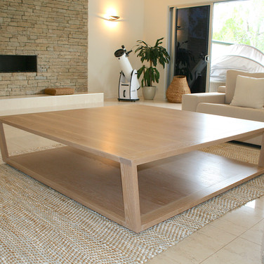 NOOSA RESIDENCE coffee table, solid American white oak in a lime wash finish
