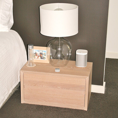 NOOSA RESIDENCE bedside, solid American white oak in a lime wash finish