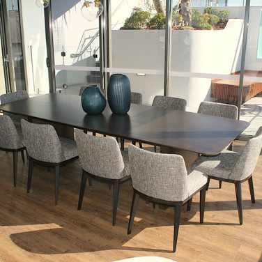 custom made table in dark brown finish for Mirvac in Brisbane