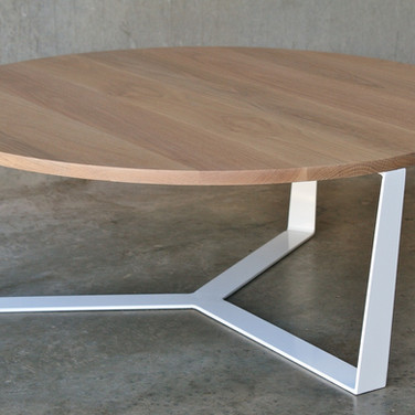 PURE coffee table sold American oak top with a powder coated steel frame