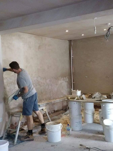 Tradtional lime Plaster on a Private residence