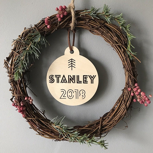 Birch Personalised Christmas Tree Bauble Decoration