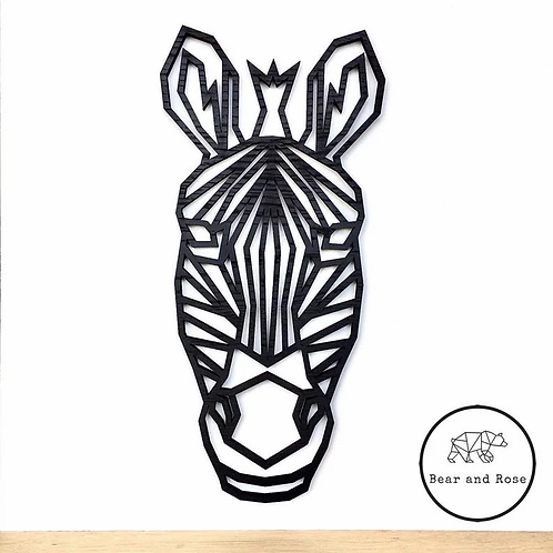 SAMPLE - Zebra - Painted Black Oak - 42cm tall