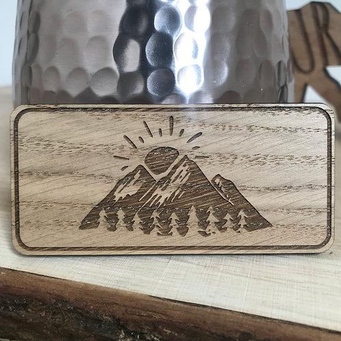 Mountain Sunrise - Mini Plaque