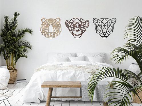 Geometric Jungle Trio - Set of 3