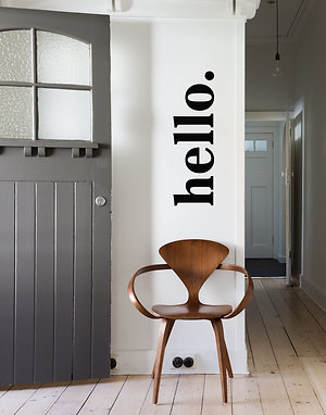 """hello."" - Wooden Wall Art"
