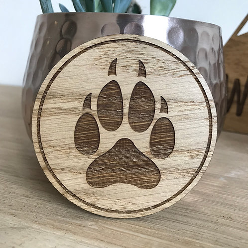 Wolf Paw Print - Mini Disc