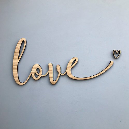 "Wooden ""love"" 2020 edition - Wall Plaque"
