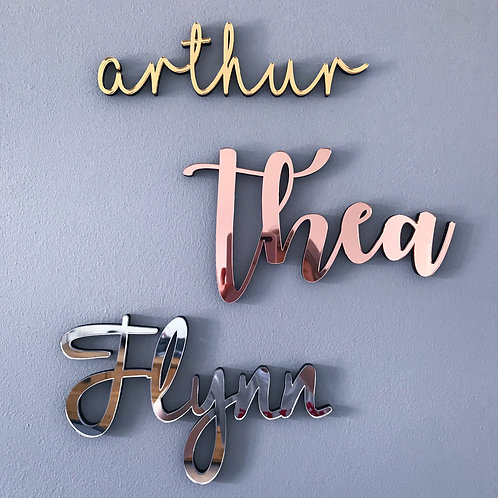Personalised Mirrored Acrylic Wall Name