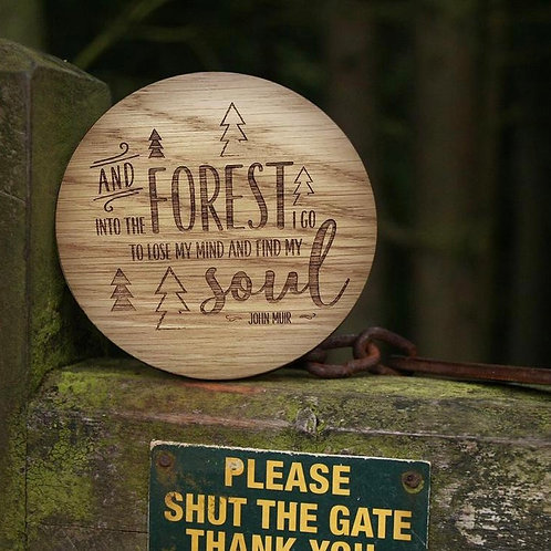 """""""Into The Forest"""" Disc - Wooden Disc"""
