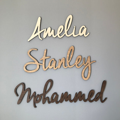 Personalised Wall Name - Mercury font