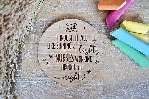 """Shining Light"" - Wooden Disc"