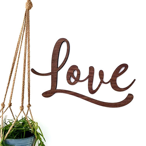 "Wooden ""love"" (Mars Edition)  - Wall Plaque"
