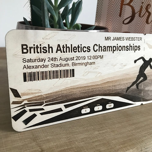 Personalised Wooden Sport Tickets